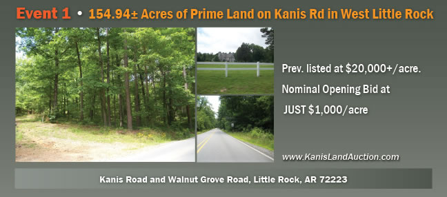8 Tracts--Buy one or more or ALL! 154.94+/- Acres of Prime Land on Kanis Road in West Little Rock--8 Tracts--Buy one or more!