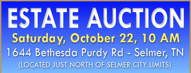Estate Auction - 603 +/- Acres In Tracts - Selmer TN