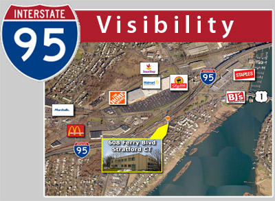 CT: Elevator Building w/ I-95 Visibility